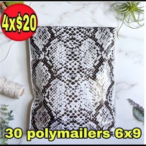 30 poly mailers 6x9 snake  print